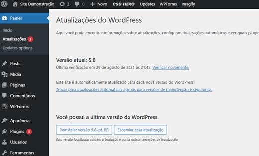 Como manter seu site WordPress atualizado