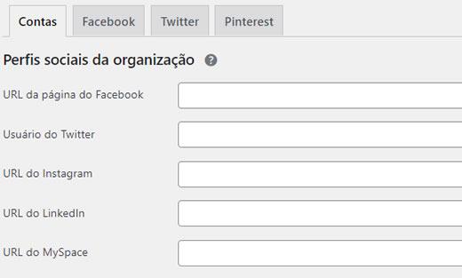 Perfis sociais da organização
