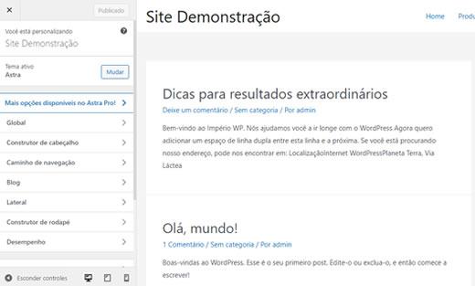 Personalizador de temas WordPress